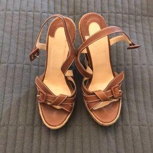 Christian louboutin wedge sandals